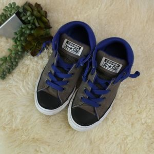 Converse Kids Blue/Gray/Black Mid Tops